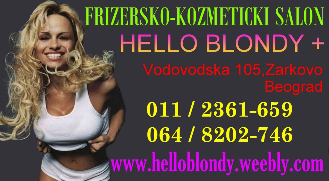 frizersko kozmeticki salon hello blondy +